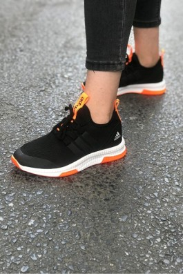 Adidas Neo Run Siyah Beyaz Turuncu