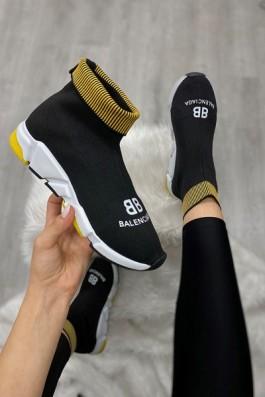 Balenciaga Çorap Siyah Sarı