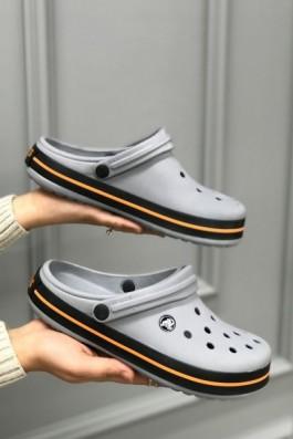 Crocs Terlik Gri Turuncu