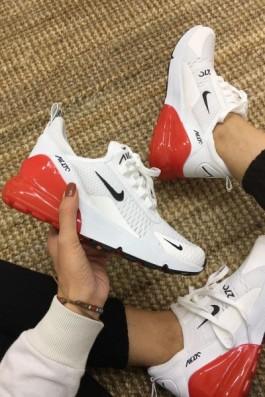 Nike Air 270 beyaz kırmızı - Unisex