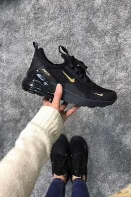 Nike Air 270 Siyah Altın - Unisex