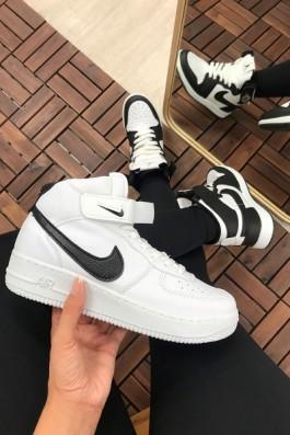 Nike Air Force Beyaz Siyah - Unisex