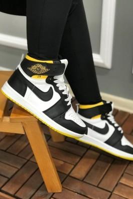 Nike Air Jordan Beyaz Siyah Sarı - Unisex