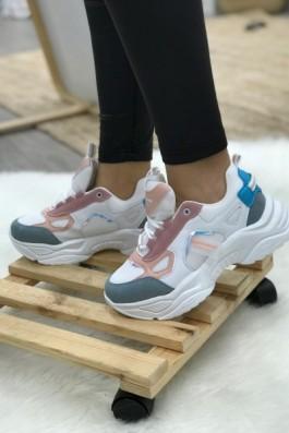 Skechers New Sport Beyaz Pudra Mavi