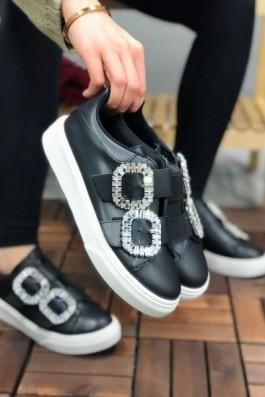 Sneakers Siyah Taşlı
