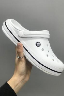 Crocs Terlik Beyaz Siyah - Unisex