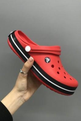 Crocs Terlik Kırmızı Siyah