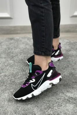 Nike React Element Siyah Mor