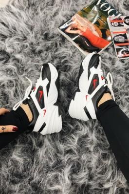 Nike Tekno Siyah Beyaz Kırmızı