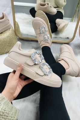 Sneakers Pudra Taşlı